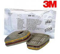 Фильтр угольный для маски класс ABE1 3М (пара)