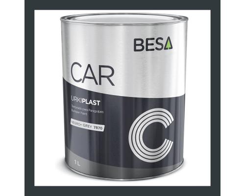 Краска для бампера структурная серый 9005 BESA (1л)