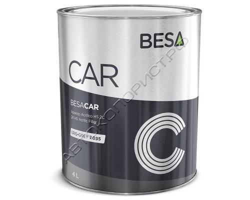 Грунт 4+1 светло-серый 7035 HS толстослойный акриловый без отвердителя BESA (4л)