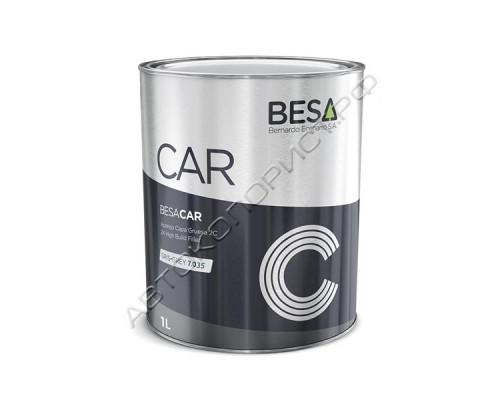 Грунт 4+1 светло-серый 7035 HS толстослойный акриловый без отвердителя BESA (1л)