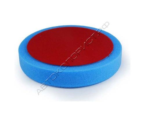 Круг полировальный 150х30мм на липучке синий средний HOLEX