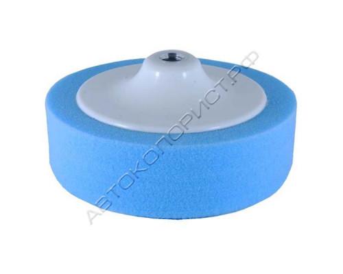 Круг полировальный 150х50мм на резьбе М14 синий средний HOLEX