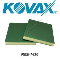 Губка абразивная двухсторонняя P 580-620 ULTRAFINE зеленая 123х98х13мм KOVAX