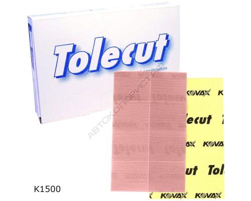 Лист абразивный K 1500 29х35мм КЛЕЙКИЙ розовый TOLECUT KOVAX (8шт)