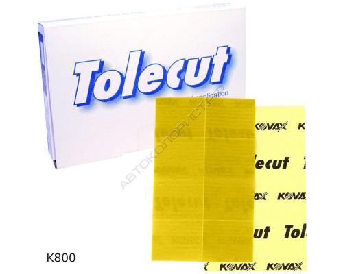 Лист абразивный K 800 29х35мм КЛЕЙКИЙ желтый TOLECUT KOVAX (8шт)