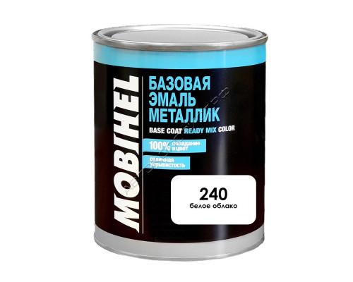 240 белое облако металлик автоэмаль MOBIHEL (1л)