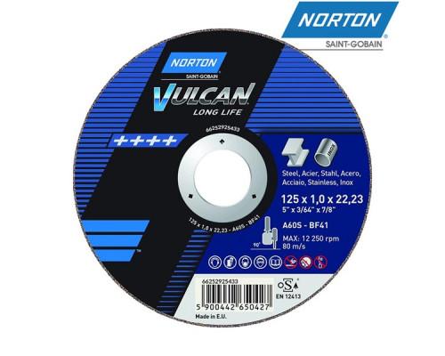 Диск отрезной 125х1.0х22,23мм по металлу VULCAN NORTON