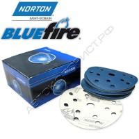 Круг абразивный P080 150мм 15 отверстий BLUE FIRE H835 NORTON