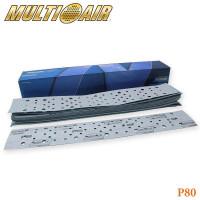 Полоска абразивная P080 70х420мм 67 отверстий MULTI-AIR PLUS A975 NORTON