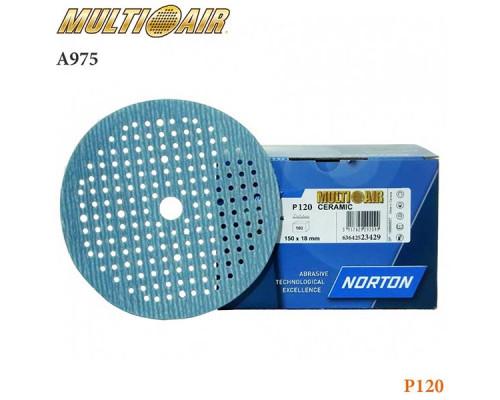 Круг абразивный P120 150мм 180 отверстий MULTI-AIR PLUS А975 NORTON