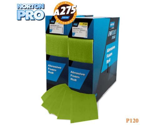 Лист абразивный на поролоне P 120 115х140мм светло-зеленый PRO NORTON