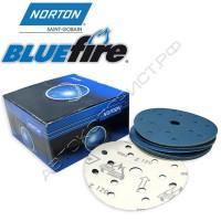 Круг абразивный P120 150мм 15 отверстий BLUE FIRE H835 NORTON