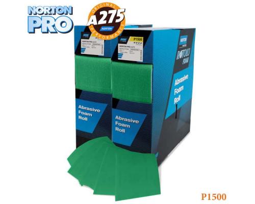 Лист абразивный на поролоне P1500 115х140мм зеленый PRO NORTON