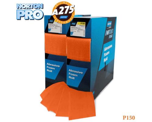 Лист абразивный на поролоне P 150 115х140мм оранжевый PRO NORTON