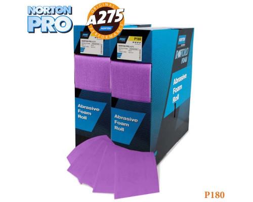 Лист абразивный на поролоне P 180 115х140мм сиреневый PRO NORTON