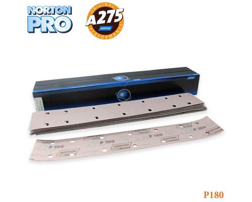 Полоска абразивная P180 70х420мм 14 отверстий PRO A275 NORTON