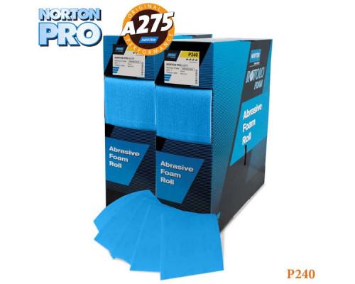 Лист абразивный на поролоне P 240 115х140мм ярко-голубой PRO NORTON