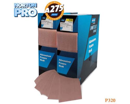 Лист абразивный на поролоне P 320 115х140мм светло-розовый PRO NORTON