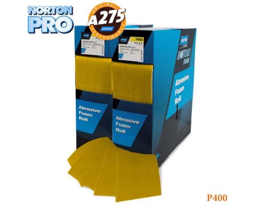 Лист абразивный на поролоне P 400 115х140мм желтый PRO NORTON