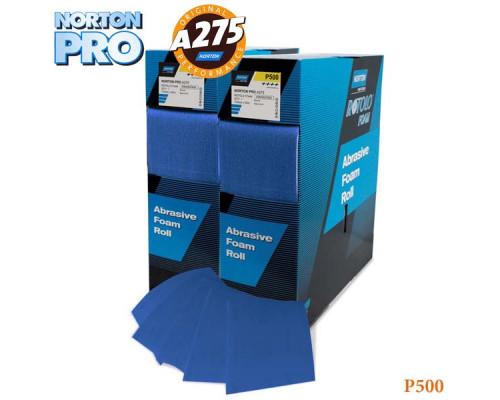 Лист абразивный на поролоне P 500 115х140мм синий PRO NORTON