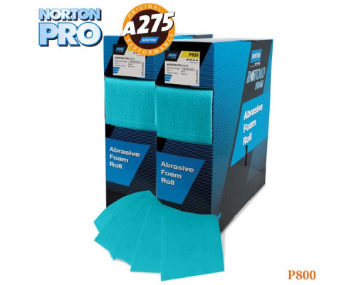 Лист абразивный на поролоне P 800 115х140мм светло-голубой PRO NORTON