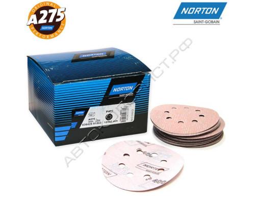 Круг абразивный P400 125мм 8 отверстий A275 NORTON