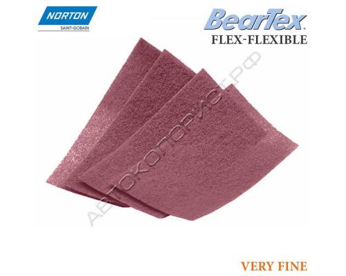 Скотч-брайт в листах P 320/400 тонкие 100х200мм красный VERY FINE FLEX-FLEXIBLE NORTON