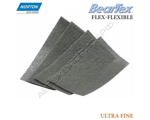 Скотч-брайт в листах P 600/800 тонкие 100х200мм серый ULTRA FINE FLEX-FLEXIBLE NORTON