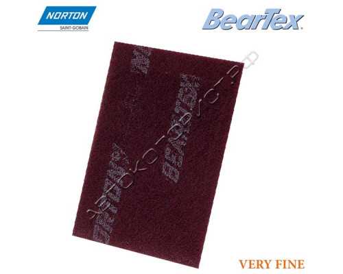Скотч-брайт в листах P 320/400 152х229мм красный VERY FINE BEARTEX NORTON
