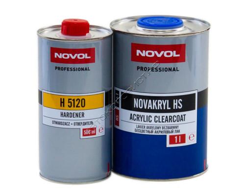 Лак HS 2+1 NOVAKRIL с отвердителем NOVOL (1л+0,5л)