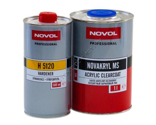 Лак MS 2+1 NOVAKRIL с отвердителем NOVOL (1л+0,5л)