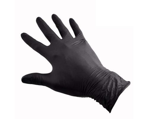 Перчатки нитриловые черные МАГНУМ М (1шт)