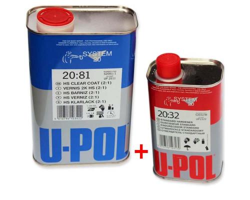 Лак HS 2+1 2081 + отвердитель 2032 U-POL (1л+0,5л)