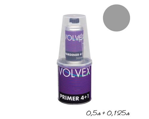 Грунт 4+1 HS серый акриловый с отвердителем VOLVEX (0,5л + 0,125л)