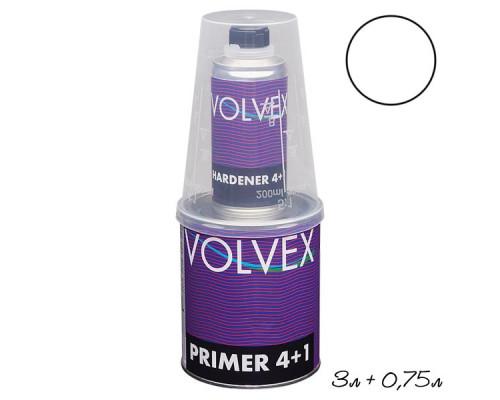 Грунт 4+1 HS белый акриловый с отвердителем VOLVEX (3л + 0,75л)