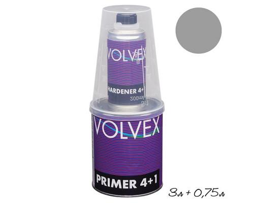Грунт 4+1 HS серый акриловый с отвердителем VOLVEX (3л + 0,75л)