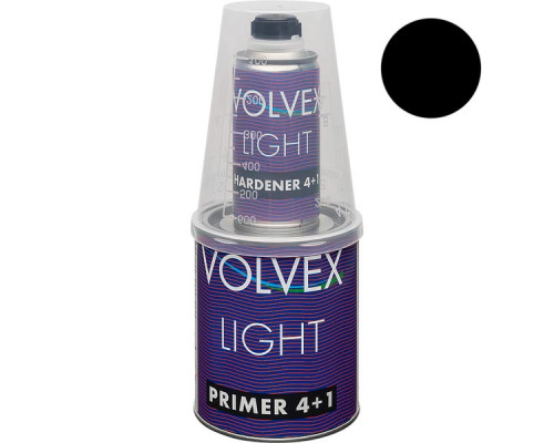 Грунт 4+1 HS (LIGHT) черный акриловый с отвердителем VOLVEX (0,8л + 0,2л)