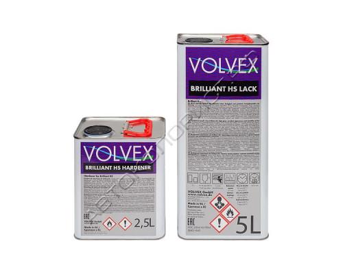 Лак BRILLIANT HS акриловый с отвердителем VOLVEX (5л+2,5л)