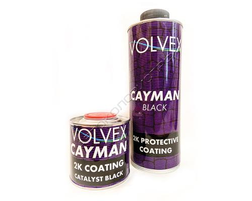 Покрытие защитное для кузова полиуретановое черный CAYMAN VOLVEX (0,8л + 0,2л)