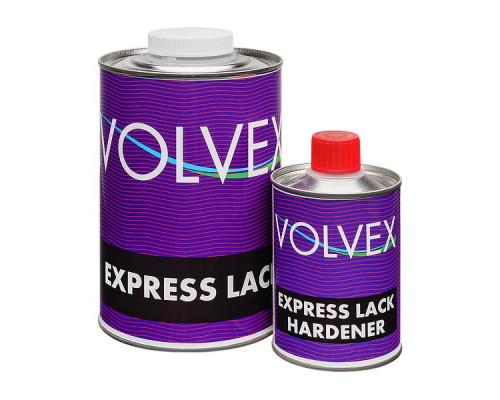 Лак EXPRESS акриловый с отвердителем VOLVEX (1л+0,25л)
