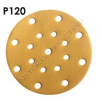 Круг абразивный P120 150мм 15 отверстий VX-GOLD