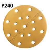 Круг абразивный P240 150мм 15 отверстий VX-GOLD