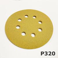 Круг абразивный P320 125мм 8 отверстий VX-GOLD